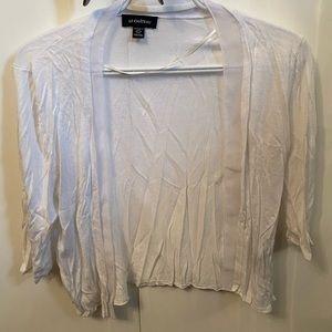 Le Chateau- White Crop cardigan size XXL